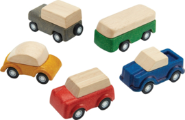 Plantoys Road System Houten Auto's (set van 5) + 3jr