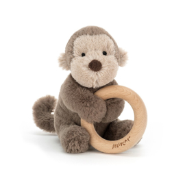 Jellycat Shooshu Monkey Rattle - Rammelaar Aap
