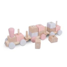 Jollein Houten Speelgoedtrein - Pink