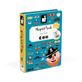 Janod Magneetboek - Gekke Gezichten Jongens
