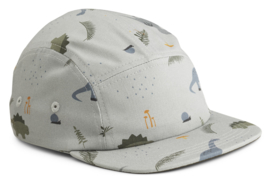 Liewood Pet Rory Cap - Dino Blue Mix (5-8 jaar)