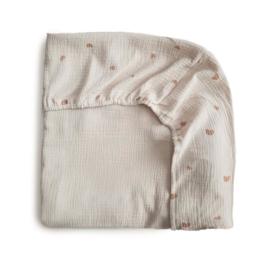 Mushie Hoeslaken Extra Soft Muslin Crib Sheet - Rainbow
