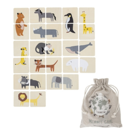 Bloomingville Houten Memory Game - Safari