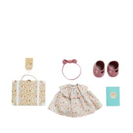 Olli Ella Dinkum Doll Travel Tog Set - Prairie Floral