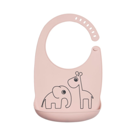 Done by Deer Siliconen Bib Slabbetje Deer Friends - Roze