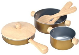 Plantoys Kinder Pannen Set - Goud