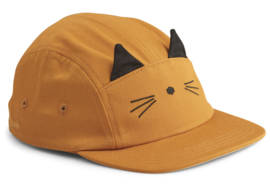 Liewood Pet Rory Cap - Cat Mustard (5-8 jaar)