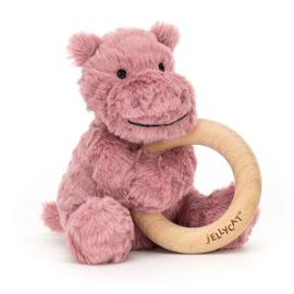 Jellycat Fuddlewuddle Rammelaar - Nijlpaard