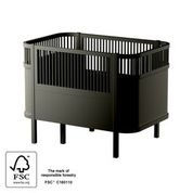 Sebra Baby en Junior Bed - Black Wooden Edition
