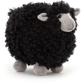 Jellycat Rolbie Sheep Black Small - Knuffel Schaap