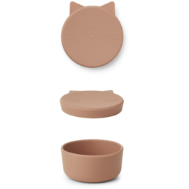 Liewood Cornelius Snack Box - Cat Tuscany Rose