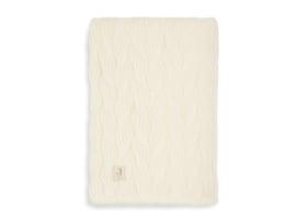 Jollein Deken Wieg Spring Knit Fleece - Ivory Coral Fleece (75 x 100 cm)