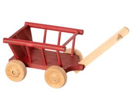 Maileg Wagon Micro Bolderkar Poppenhuis - Dusty Red