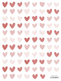 Lilipinso Coquette Muurstickers Mini - Hartjes Roze
