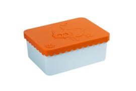Blafre Lunchtrommel Rechthoek Vos - Oranje / Licht Blauw