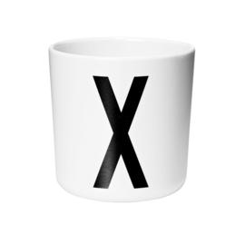 Design Letters Melamine Drinkbeker - Letter X