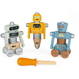 Janod Brico Kids Robot Set  (set van 3) +3jr