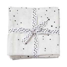 Done by Deer Hydrofiele doek XL Swaddle Dreamy Dots - Wit (set van 2)