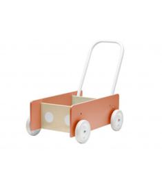 Kids Concept Houten Loopwagen - Abrikoos Roze