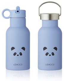 Liewood Anker Waterbottle Drinkfles - Panda Sky Blue (350ml)