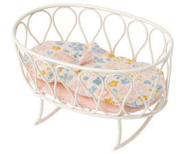 Maileg Cradle With Sleeping Bag Micro - Off White