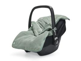Jollein Voetenzak voor Autostoel en Kinderwagen Basic Knit - Forest Green