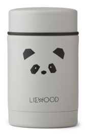 Liewood Nadja Food Jar - Panda Light Grey (250 ml)