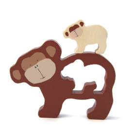 Trixie Houten Babypuzzel - Mr. Monkey