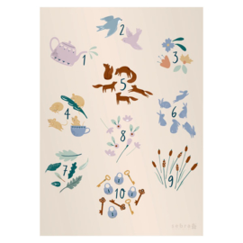 Sebra Poster Numbers - Daydream