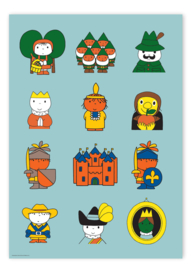 Kek Amsterdam Poster A2 - Dick Bruna Sprookjes figuren (PS-039)