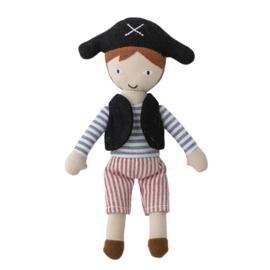 Bloomingville Knuffel Piraat en Zeemeermin in Sloep - Multi Colour (set van 3)