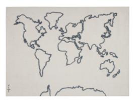 Lorena Canals Canvas Muurkleed - World Map