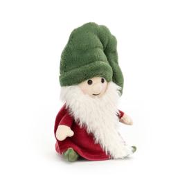 Jellycat Kerst Knuffel Kerstkabouter Noel - Gnome Noel (15 cm)