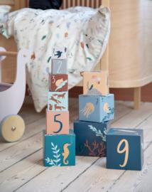 Sebra Stacking Blocks Stapelblokken - Seven Seas / Daydream