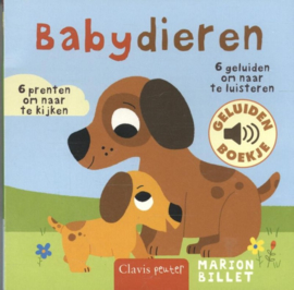 Uitgeverij Clavis Geluidenboekje - Babydieren +1jr