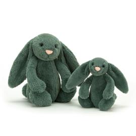Jellycat Bashful Bunny Forest Green - Knuffel Konijn (31 cm)