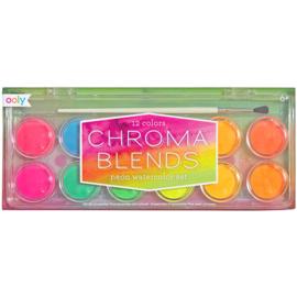 Ooly Waterverf Chroma Blends Neon - 12 kleuren