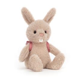Jellycat Backpack Bunny - Knuffel Konijn met Rugzak (22 cm)