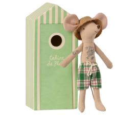 Maileg Beach Mice Dad - Muisje Vader in Strandhuisje (17,5 cm)