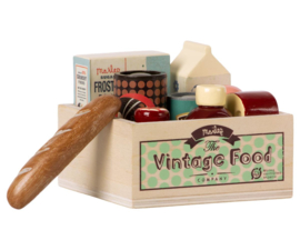 Maileg Vintage Food Set Poppenhuis - Vintage Food Grocery Box
