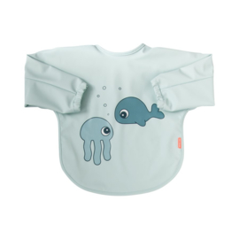 Done by Deer Slab met mouwen Sea Friends - Blauw (6-18m)