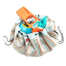 Play and Go Speelgoedkleed en opbergzak - Outdoor Stripes (Waterafstotend!)