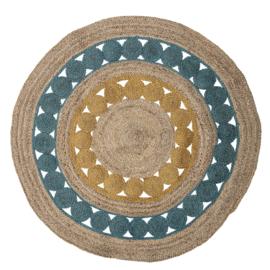 Bloomingville Vloerkleed Jute Marlin Rond - Multi-Color