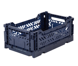 AyKasa Folding Crate Mini Box - Navy