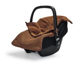 Jollein Voetenzak voor Autostoel en Kinderwagen Basic Knit - Caramel