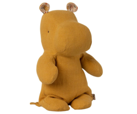 Maileg Safari Friends Hippo Small - Dusty Yellow (22cm)