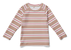 Liewood Zwem Shirt Noah Swim Tee UPF 50+ - Stripe Rose Apple Red (maat 68-74)