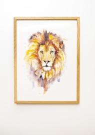 Veer Illustratie Poster - Leeuw