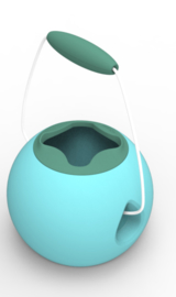 Quut Zand- en Waterspeelgoed Emmer - MINI Ballo Vintage Blue + Mineral Green
