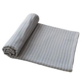Mushie Hydrofiele Doek XL Swaddle - Blue Stripes